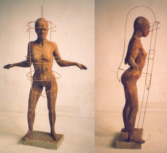 Amazone bronze H.1.30 m
